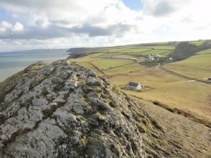 View east from the Mwnt