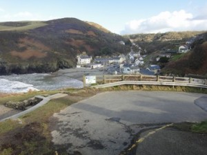 Looking down on Llangrannog
